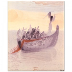 "Salvador Dali (1904-1989) - ""Ship of Souls"" SOLD OUT Limited Edition Glazed Ceramic Tile"