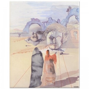 "Salvador Dali (1904-1989) - ""The Avarice and the Prodigality"" SOLD OUT Limited Edition Glazed Ceramic Tile"