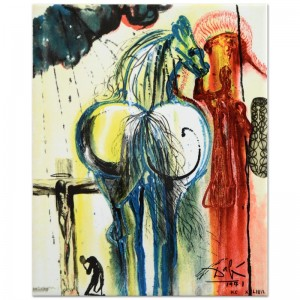 "Salvador Dali (1904-1989) - ""The Centurion"" SOLD OUT Limited Edition Glazed Ceramic Tile"