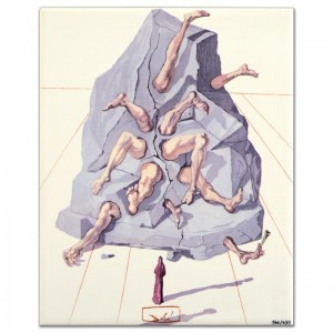 "Salvador Dali (1904-1989) - ""The Simonists"" SOLD OUT Limited Edition Glazed Ceramic Tile"