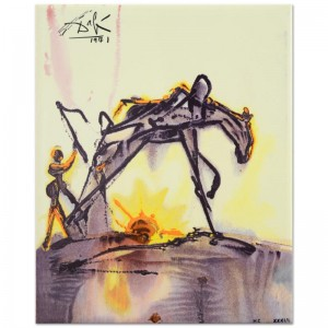 "Salvador Dali (1904-1989) - ""The Horse of Labor"" SOLD OUT Limited Edition Glazed Ceramic Tile"