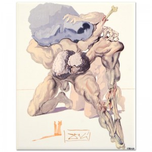 "Salvador Dali (1904-1989) - ""The Avaricious and the Prodigal"" SOLD OUT Limited Edition Glazed Ceramic Tile"