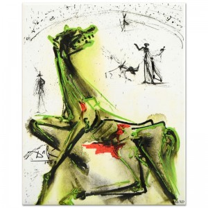 "Salvador Dali (1904-1989) - ""Victim of Festivities"" SOLD OUT Limited Edition Glazed Ceramic Tile"