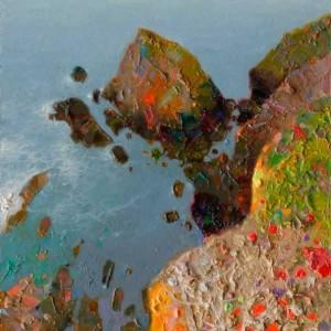 La peña.Alentejo.Costa Atlántica.Portugal.25x17cm.9,27x6,40 pulgadas.óleo sobre tabla.jp.