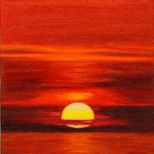 Red Sunset 10x20