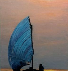 Sunset Sail 8x16