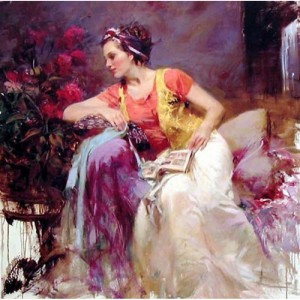 """Serendipity Limited Edition Giclee on Stretched Canvas (40"""" x 24"""") by Pino (1939-2010)"""