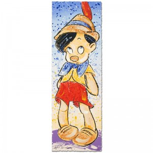 "Pinocchio Disney Limited Edition Serigraph (12"" x 36"") by David Willardson"