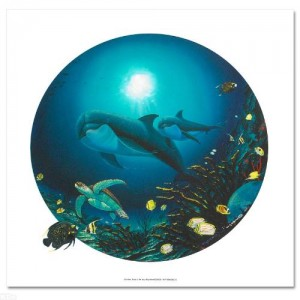 Undersea Life Limited Edition Giclee on Canvas by Renowned Artist Wyland