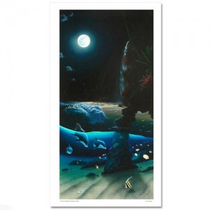 """Island Paradise LIMITED EDITION Giclee on Canvas (20"""" x 40"""") by renowned artist WYLAND"""