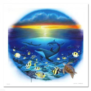 Sea of Life LIMITED EDITION Giclee on Canvas by renowned artist WYLAND