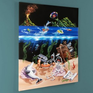 Sand Bar 2 LIMITED EDITION Giclee on Canvas by Michael Godard