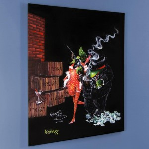 "Ollie Capone LIMITED EDITION Giclee on Canvas (28"" x 35"") by Michael Godard"