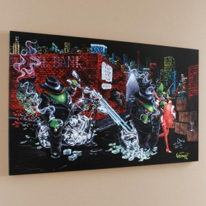 "Gangster Chopper Limited Edition Giclee on Canvas (42"" x 26"""") by Michael Godard"