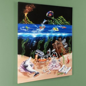 "Sand Bar 2 Mural LIMITED EDITION Hand-Embellished Giclee on Canvas (42"" x 53"") by Michael Godard"