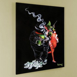 "Gangster Love LIMITED EDITION Giclee on Canvas (28"" x 35"") by Michael Godard"