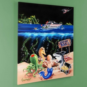 "Sand Bar 1 LIMITED EDITION Hand-Embellished Giclee on Canvas (28"" x 35"") by Michael Godard"