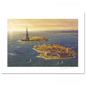 Ellis Island - Fall LIMITED EDITION Mixed Media by Alexander Chen