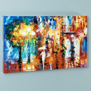 Streetside Expression LIMITED EDITION Giclee on Canvas by Leonid Afremov