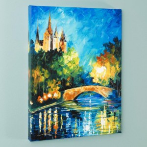 Perfect Night LIMITED EDITION Giclee on Canvas by Leonid Afremov