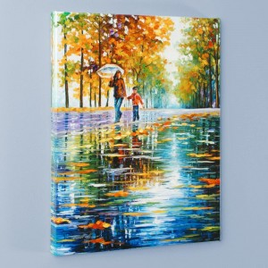 Stroll in an Autumn Park LIMITED EDITION Giclee on Canvas by Leonid Afremov
