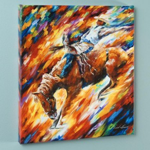 Rodeo - Dangerous Games LIMITED EDITION Giclee on Canvas by Leonid Afremov
