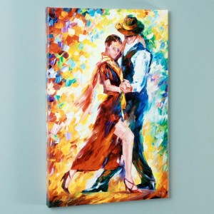 Romantic Tango LIMITED EDITION Giclee on Canvas by Leonid Afremov