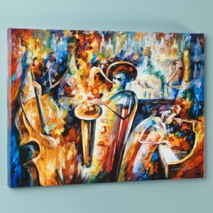 Bottle Jazz III LIMITED EDITION Giclee on Canvas by Leonid Afremov