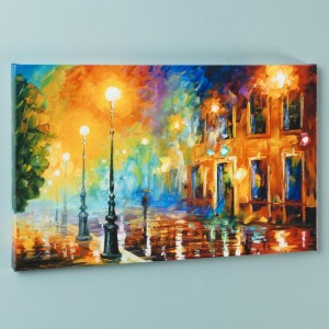 Misty City LIMITED EDITION Giclee on Canvas by Leonid Afremov