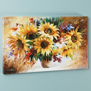 Sunflowers LIMITED EDITION Giclee on Canvas by Leonid Afremov
