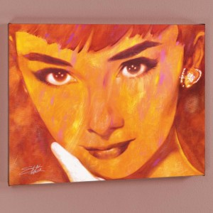 Audrey Too LIMITED EDITION Giclee on Canvas by Stephen Fishwick