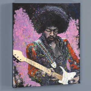 Jimi LIMITED EDITION Giclee on Canvas by Stephen Fishwick