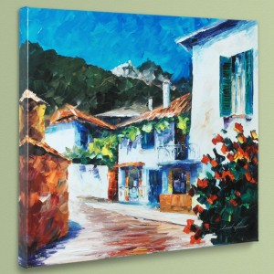 The Villa LIMITED EDITION Giclee on Canvas by Leonid Afremov