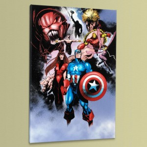 Avengers #99 Annual Limited Edition Giclee on Canvas by Leonardo Manco and Marvel Comics