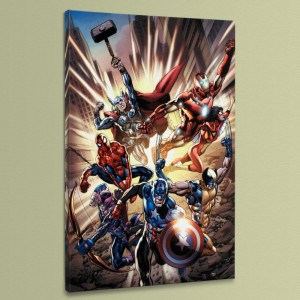 Avengers #12.1 LIMITED EDITION Giclee on Canvas by Bryan Hitch and Marvel Comics