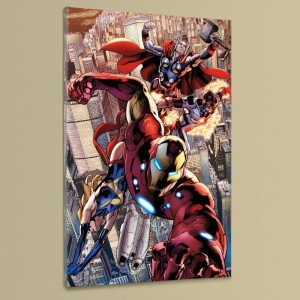 Avengers #12.1 Extremely LIMITED EDITION Giclee on Canvas by Bryan Hitch and Marvel Comics