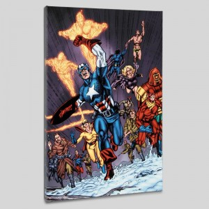 Avengers/Invader #11 Limited Edition Giclee on Canvas by Steve Sadowski and Marvel Comics
