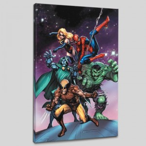 Avengers and the Infinity Gauntlet #3 LIMITED EDITION Giclee on Canvas by Tom Grummett and Marvel Comics