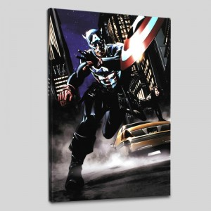 Captain America #34 Limited Edition Giclee on Canvas by Steve Epting and Marvel Comics