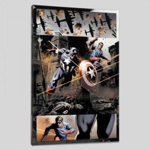 Captain America #37 Limited Edition Giclee on Canvas by Steve Epting and Marvel Comics