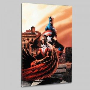 Captain America & The Falcon #5 Limited Edition Giclee on Canvas by Steve Epting and Marvel Comics