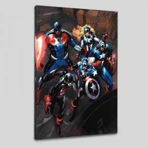 Captain America Corps #2 LIMITED EDITION Giclee on Canvas by Phil Briones and Marvel Comics