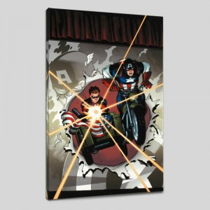 Captain America and Bucky #621 LIMITED EDITION Giclee on Canvas by Ed McGuinness and Marvel Comics