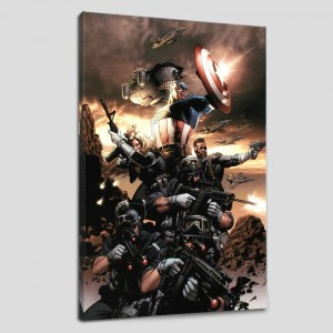 Captain America N9 LIMITED EDITION Giclee on Canvas by Steve Epting and Marvel Comics