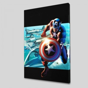 Captain America: Man Out Of Time #2 LIMITED EDITION Giclee on Canvas by Bryan Hitch and Marvel Comics
