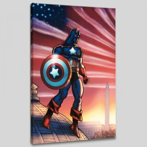 Captain America Theatre of War: America First! #1 LIMITED EDITION Giclee on Canvas by Howard Chaykin and Marvel Comics
