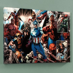 Earthfall #2 Limited Edition Giclee on Canvas by Tan Eng Huat and Marvel Comics