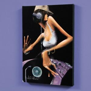 DJ Free LIMITED EDITION Giclee on Canvas by David Garibaldi