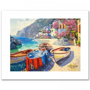 Memories of Capri Limited Edition Hand Embellished Giclee on Canvas by Howard Behrens! Numbered and Hand Signed with Certificate of Authenticity!