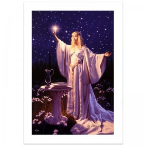 The Ring Of Galadriel Limited Edition Giclee on Canvas by Greg Hildebrandt! Numbered and Hand Signed by the Artist! Includes Certificate of Authenticity!